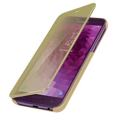 Avizar Etui folio Dorée pour Samsung Galaxy J4 pas cher