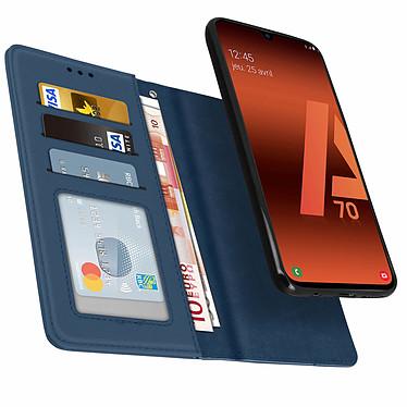 Avizar Etui folio Bleu Nuit pour Samsung Galaxy A70 pas cher