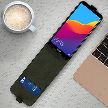 Avis Avizar Etui à clapet Noir pour Honor 7C , Huawei Y7 2018