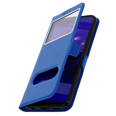 Avizar Etui folio Bleu Éco-cuir pour Huawei Mate 20 lite pas cher