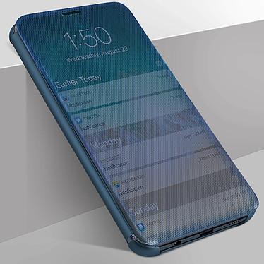 Avizar Etui folio Bleu pour Samsung Galaxy A40 pas cher