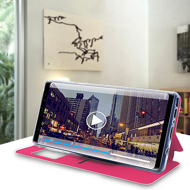 Avis Avizar Etui folio Rose à fenêtre pour Samsung Galaxy Note 9