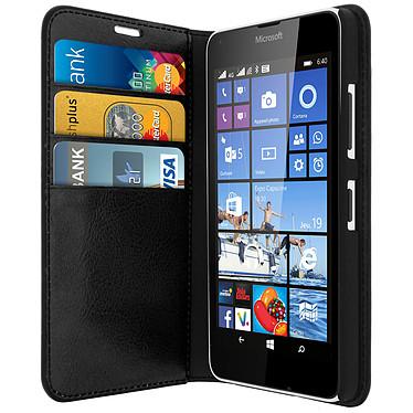 Avizar Etui folio Noir pour Nokia Lumia 640 , Microsoft Lumia 640 Etui folio Noir Nokia Lumia 640 , Microsoft Lumia 640
