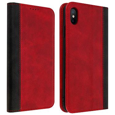 Avizar Etui folio Rouge Éco-cuir pour Apple iPhone XS Max Etui folio Rouge éco-cuir Apple iPhone XS Max