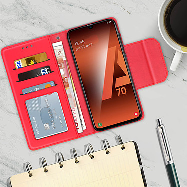 Acheter Avizar Etui folio Rouge Portefeuille pour Samsung Galaxy A70