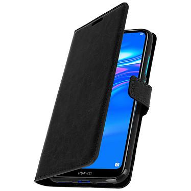 Avizar Etui folio Noir Éco-cuir pour Huawei Y7 2019 pas cher