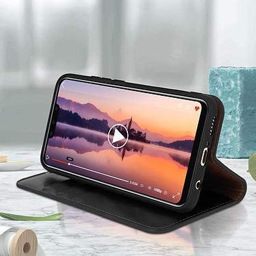 Avis Avizar Etui folio Noir Cuir véritable pour Huawei Mate 20 Lite