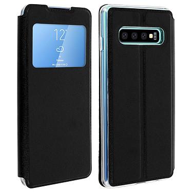 Avizar Etui folio Noir pour Samsung Galaxy S10 Plus Etui folio Noir Samsung Galaxy S10 Plus