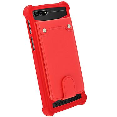 Avizar Coque Rouge pour Compatibles avec Smartphones de 4,7 à 5,0 pouces pas cher