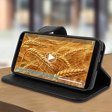 Avis Avizar Etui folio Noir Portefeuille pour Samsung Galaxy J6