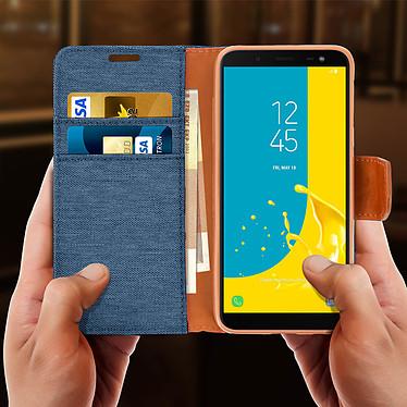 Acheter Avizar Etui folio Bleu Nuit Porte-Carte pour Samsung Galaxy J6