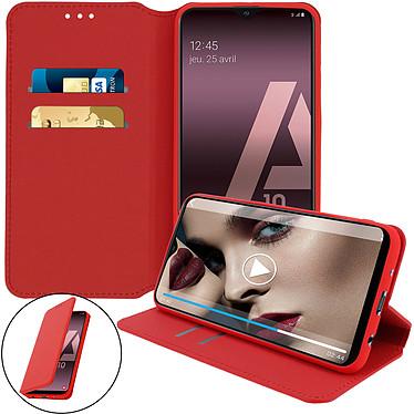 Avizar Etui folio Rouge pour Samsung Galaxy A10 pas cher