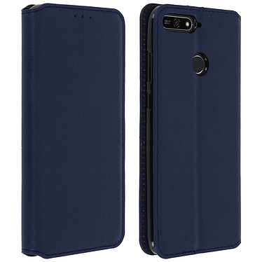 Avizar Etui folio Bleu Nuit pour Honor 7A , Huawei Y6 2018 pas cher