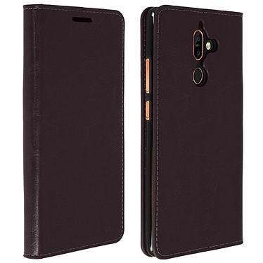 Avizar Etui folio Marron pour Nokia 7 plus pas cher