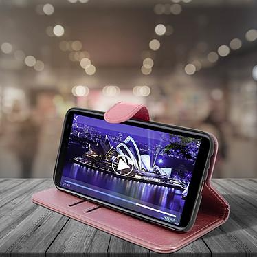 Avis Avizar Etui folio Rose Champagne pour Samsung Galaxy J4 Plus