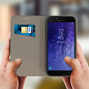 Avis Avizar Etui folio Noir pour Samsung Galaxy J4