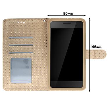 Acheter Avizar Etui folio Dorée pour Smartphones de 5.3' à 5.5'