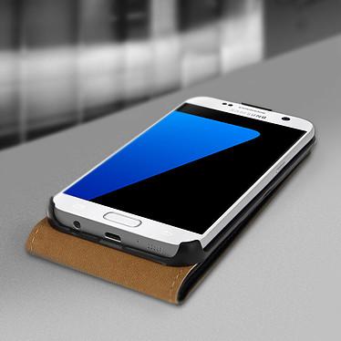 Avizar Etui à clapet Noir pour Samsung Galaxy S7 pas cher