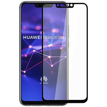 Avizar Film verre trempé Noir pour Huawei Mate 20 lite pas cher