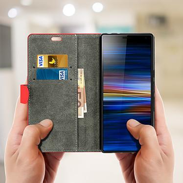 Acheter Avizar Etui folio Rouge Éco-cuir pour Sony Xperia 10 Plus