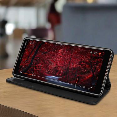 Avis Avizar Etui folio Noir pour Nokia 7 plus
