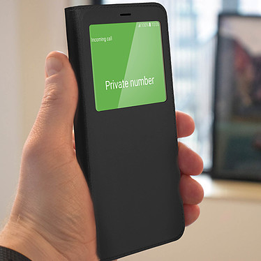 Avis Avizar Etui folio Noir pour Samsung Galaxy J6 Plus