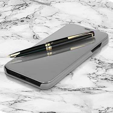 Avizar Etui folio Argent pour Apple iPhone XS Max pas cher