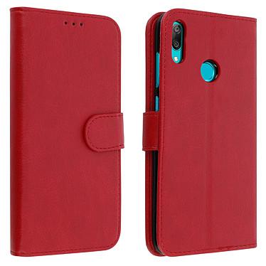 Avizar Etui folio Rouge pour Huawei Y7 2019 Etui folio Rouge Huawei Y7 2019