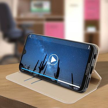 Avis Avizar Etui folio Dorée pour Motorola Moto G7 , Motorola Moto G7 Plus