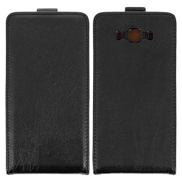 Avizar Etui à clapet Noir pour Samsung Galaxy J7 2016 pas cher