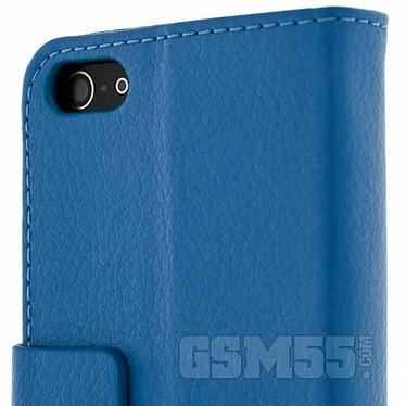 Avizar Etui folio Bleu pour Apple iPhone 5 , Apple iPhone 5S , Apple iPhone SE pas cher