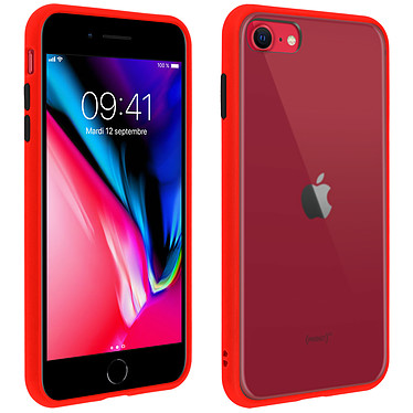 Avizar Coque Rouge pour Apple iPhone 7 , Apple iPhone 8 , Apple iPhone SE 2020 Coque Rouge Apple iPhone 7 , Apple iPhone 8 , Apple iPhone SE 2020