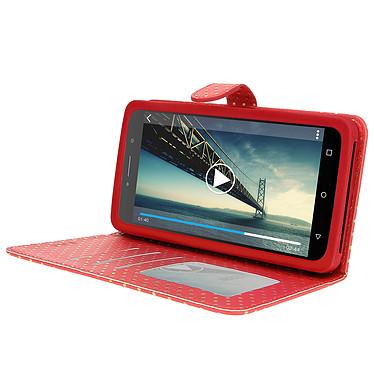 Avizar Etui folio Rouge pour Smartphones de 5.0' à 5.3' pas cher