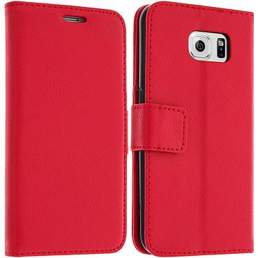 Avizar Etui folio Rouge pour Samsung Galaxy S6 Etui folio Rouge Samsung Galaxy S6