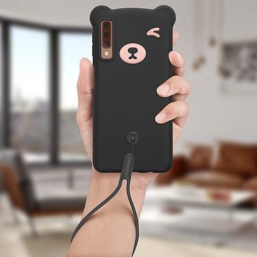 Acheter Avizar Coque Noir Design Nounours pour Samsung Galaxy A7 2018