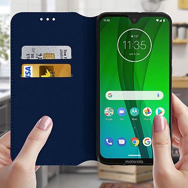 Acheter Avizar Etui folio Bleu Nuit pour Motorola Moto G7 , Motorola Moto G7 Plus