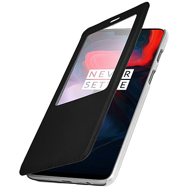 Avizar Etui folio Noir pour OnePlus 6 pas cher