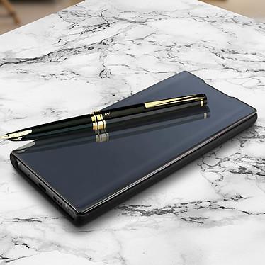 Avizar Etui folio Noir Design Miroir pour Samsung Galaxy Note 10 pas cher