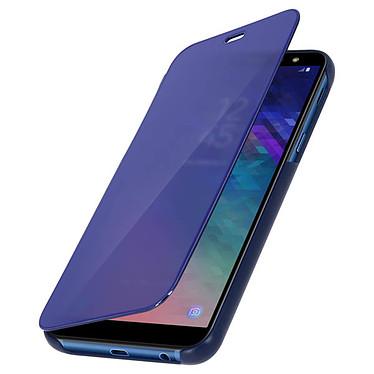 Avizar Etui folio Bleu Design Miroir pour Samsung Galaxy A6 pas cher
