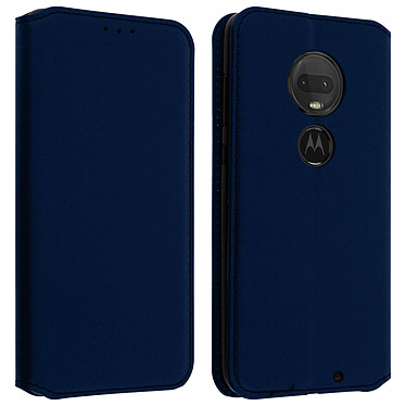 Avizar Etui folio Bleu Nuit pour Motorola Moto G7 Power Etui folio Bleu Nuit Motorola Moto G7 Power