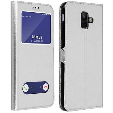 Avizar Etui folio Argent pour Samsung Galaxy A6 Etui folio Argent Samsung Galaxy A6