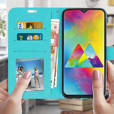 Acheter Avizar Etui folio Turquoise pour Samsung Galaxy M20