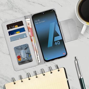 Acheter Avizar Etui folio Argent pour Samsung Galaxy A40