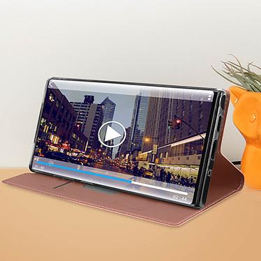 Acheter Avizar Etui folio Rose Champagne Éco-cuir pour Samsung Galaxy Note 10 Plus
