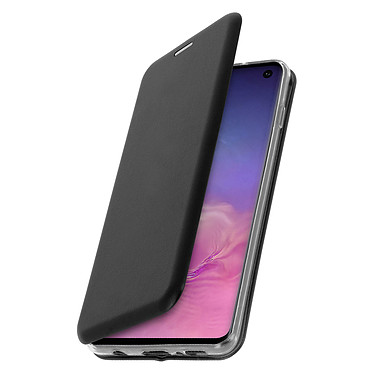 Avizar Etui folio Noir Stand Vidéo pour Samsung Galaxy S10 pas cher
