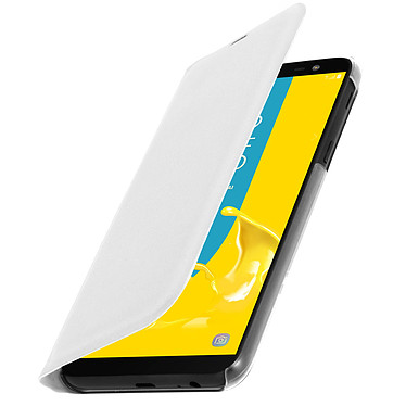 Avizar Etui folio Blanc pour Samsung Galaxy J6 pas cher