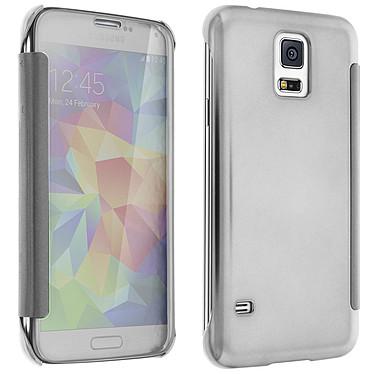 Avizar Etui folio Argent pour Samsung Galaxy S5 , Samsung Galaxy S5 New Etui folio Argent Samsung Galaxy S5 , Samsung Galaxy S5 New