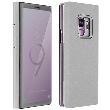 Avizar Etui folio Argent pour Samsung Galaxy S9 Etui folio Argent Samsung Galaxy S9