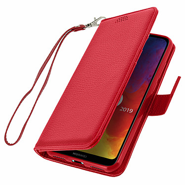 Avizar Etui folio Rouge pour Honor 8A , Huawei Y6 2019 , Huawei Y6S pas cher