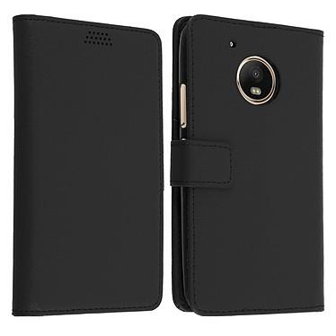 Avizar Etui folio Noir pour Motorola Moto G5 , Lenovo Moto G5 pas cher